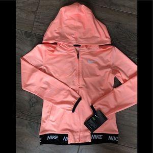 Nike Dry Full Zip Hoodie Jacket Girls Sz 6x NEW